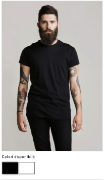 T-SHIRT UOMO ROLL SLEEVE 14748